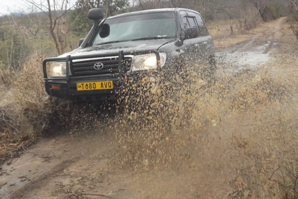 off road in mud time during rain